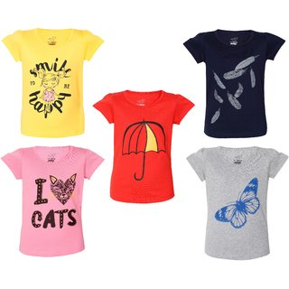 74 HORSE Girls printed pure cotton T-shirt