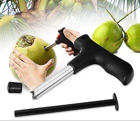 Shop Stoppers  Black Durable Stainless Steel Coconut Cutter Opener  Coconut Punching Tool