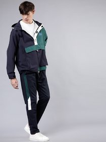 Ruggstar Track Pant for Men(Blue Green white patti)