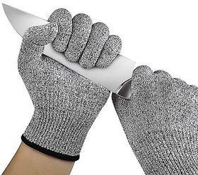 Shop Stoppers  Cut Resistant Gloves (Level 5) - 1 Pair  Safety Gloves for Kitchen, Office, Outdoor  UNISEX