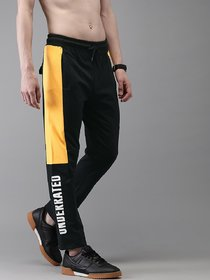 Ruggstar Track Pant for Men(Black Yellow underrated)