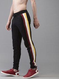Ruggstar Track Pant for Men(Black Red White Yellow)
