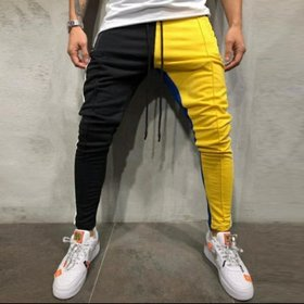Ruggstar Track Pant for Men(Black Yellow NEW)