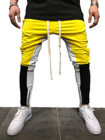 Ruggstar Track Pant for Men (White Yellow Black )