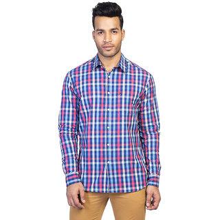 Mens Long Sleeve Casual Checked Shirt