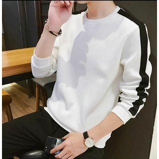 Ruggstar White Round Neck T shirt For Men T Shirts