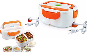 Shop Stoppers  Electric Lunch Box, Plastic Electric Food Lunch/Tiffin Warmer Box for Office, Home, Car and Portable