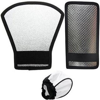 StooinSilver White Flash Diffuser Reflector for Flash set of 1 pis of 3 Camera Flash Diffuser