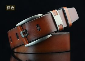 Onnix Men  Women Casual, Party, Evening Brown Artificial Leather Belt