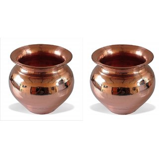 Buy One Get One Free Offer Copper Vessel Kalash Tambya Lota for Pooja,Small Size by Dorvik Enterprises