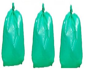 Clean Home Oxo Biodegradable Garbage Bags 90 Pcs of Green Color Medium Size 19 X 21 inch Medium Dustbin Bag  (90 Pcs)