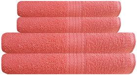 Akin Premium 500 GSM Orange Cotton Towels Combo (Hand Towels-2, Bath Towels-2)