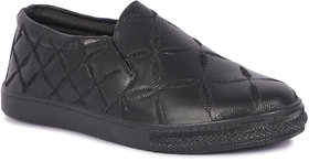 Banjoy Ladies Black slip-on Sneakers