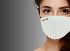 Healthgenie FM 101 Premium Quality Washable  Reusable Double Layered Cloth Face Mask - White (Pack of 3)
