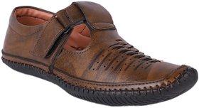 LeeGreater Stylish Roman Sandals for Men(Dark Brown)