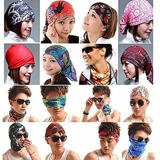 Unisex Head Wrap Bandana (Multicolour, Free Size)