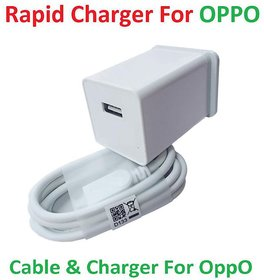 Oppo Hi Speed Mobile Charger for Oppo F1s/ F3/ F1Plus/ F9/ F5/ Youth/ F7/ A83/ A37f/ A37/ A71/ A57/ A1  White