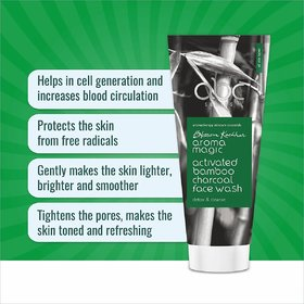 Aroma Magic Activated Bamboo Charcoal Face Wash 100 ml