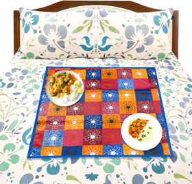 LooMantha COLORFUL PRINTED REVERSABLE WATERPROOF PVC MULTIPURPOSE MAT BED FOOD SERVER MAT(33x33 cm)