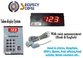 Security Store Token Calling Display System for Banks, Hospitals, Hotels, Clinics