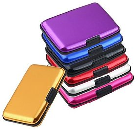 kudos Portable Popular Aluma Metal Aluminum Wallet for Business Credit Card Holder (pack of 1)