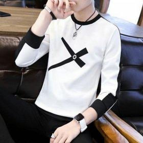 Ruggstar White Round Neck T-Shirt For Men