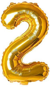 JMO27Deals Solid 2 Number foil Balloon for Birthday Party Decoration/Birthday suppliers /Birthday Decoration Balloon