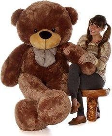 Truelover 5 Feet BIG Stuffed Spongy Teddy Bear Cuddles Soft Toy For Girls 152 Cm   Brown