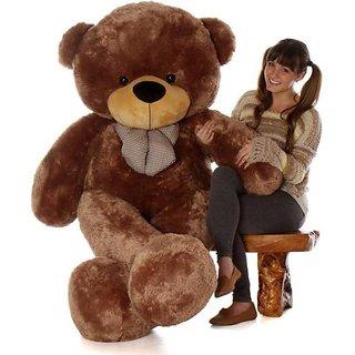 Truelover 5 Feet BIG Stuffed Spongy Teddy Bear Cuddles Soft Toy For Girls 152 Cm - Brown