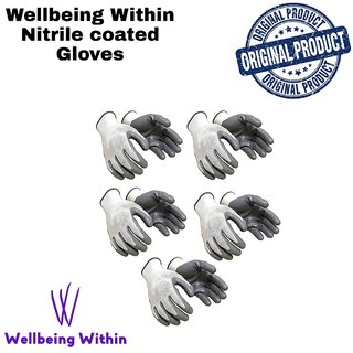 Wellbeing Within Safety Gloves NIT-RILE Coated ON Palm Coronavirus protection