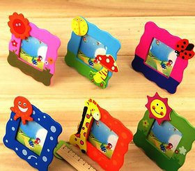 Neo Rising Colorful Wooden, Small Photo Frame, Cute and Beautiful.(Mix Style 6 Pcs).