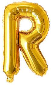 Decoration Foil Toy Balloon 16 Inch Letter Alphabets - (Golden-R Shape)