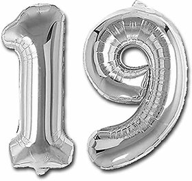 JMO27Deals Solid 19 Number foil Balloon for Birthday Party Decoration/Birthday suppliers /Birthday Decoration Balloon