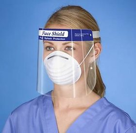 IMPACT PROMOTIONS Reusable Safety Face Shield, 20 Pcs Anti-fog Full Face Shield, Universal Transparent Full Face Protect