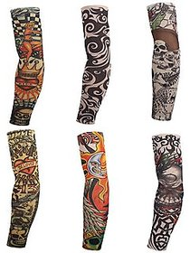 Aadikart Assorted Arm Warmers Tattoo Sleeves Multicolour Pack of 3 for Men and Women