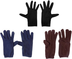 Aadikart  Bike Riding Protective Cotton Gloves Multicolor Half for Men and Women Pack of 3