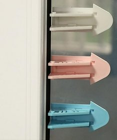 Kuhu Creations Kids Safety Sliding Door Style Lock for Drawer, Door, Cabinet.(Mix 1 Units).