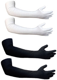 Aadikart  Bike Riding Protective Cotton Gloves Multicolor Full for Men and Women Pack of 2