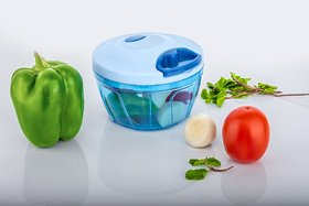 New Handy Plastic Chopper, Handy Vegetable Chopper, Quick Cutter for Kitchen with 3 Stainless Steel Blade