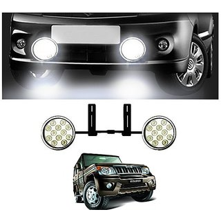 After cars LED Fog Lamp Unit for Mahindra Bolero Car with Free Gift Car Bluetooth