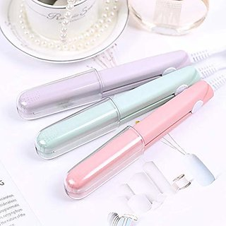 Mini hair straightener ceramic electronic hair roll straighteners