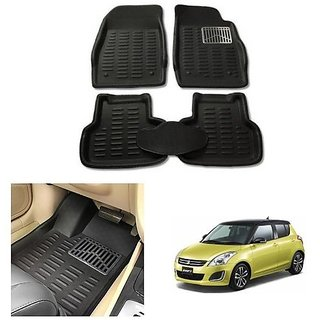 After cars Car Carpet Black Car Floor/Foot Mats for  Maruti Suzuki Swift 2013
