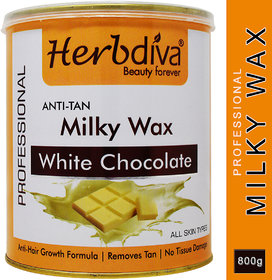 Herbdiva Anti-Tan White Chocolate Hair Removal Wax 800gm