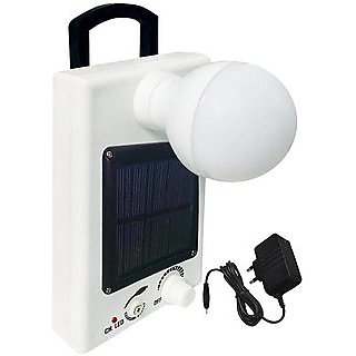 12 LED Solar Bulb With Charge Rechargeable Emergency Light (White) By  Alpha