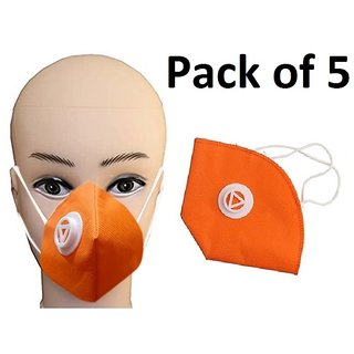 Germs Virus Protection Washable Face Masks For Men Women Reusable Set Of 5
