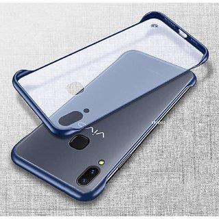 GADGETWORLD Luxury Sidecut Cover Case for Vivo Y91  (Blue)