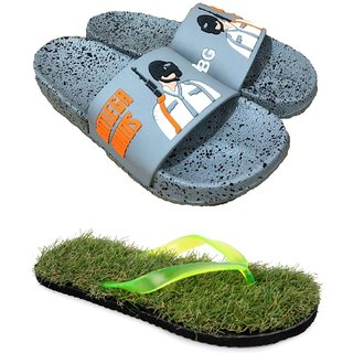 Pampys Angel Combo Pack of 2 Slipper FlipFlops for Men