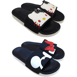 Pampys Angel Combo Pack of 2 Slipper Flipflop for Women
