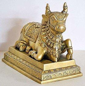 Shubh Sanket Vastu Brass Nandi Bull 5.5 inches