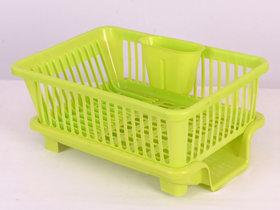 Prexo 3 in 1 Green Kitchen Sink Basket with Drainer rack